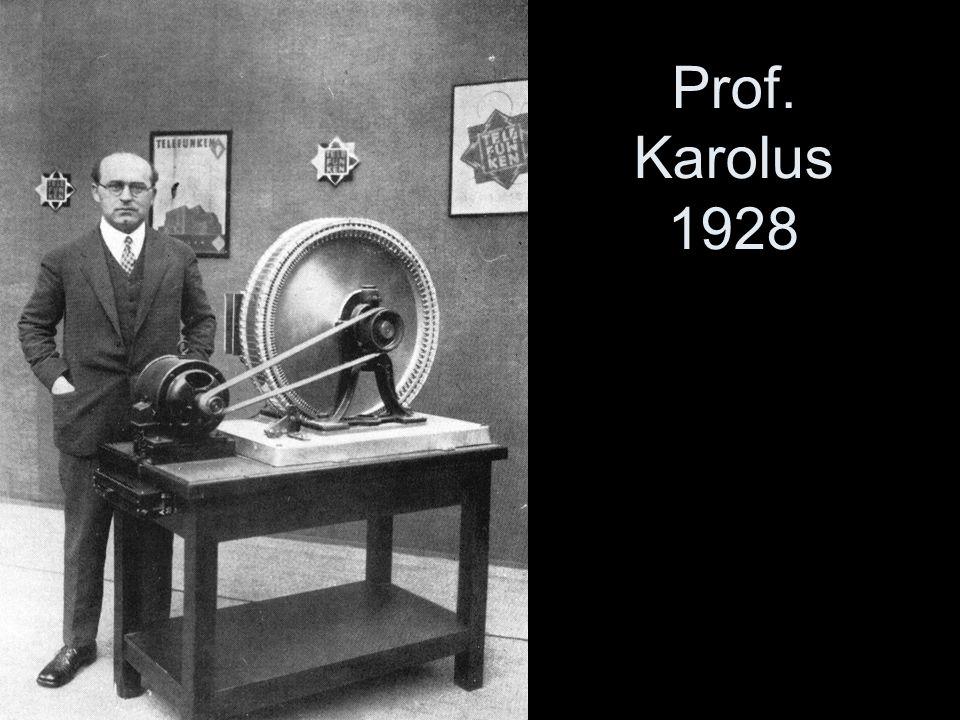 Prof. Karolus 1928 Professor Karolus vor einem Spiegelrad (muss man nicht vertiefen)