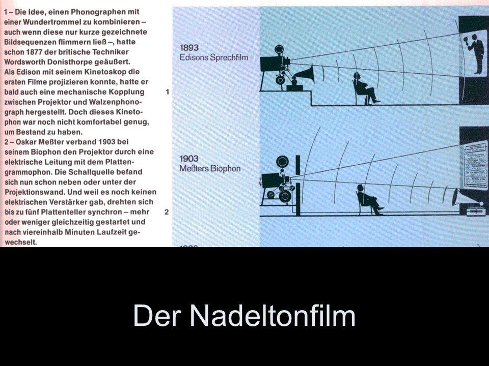 Siehe Text im Bild Der Nadeltonfilm