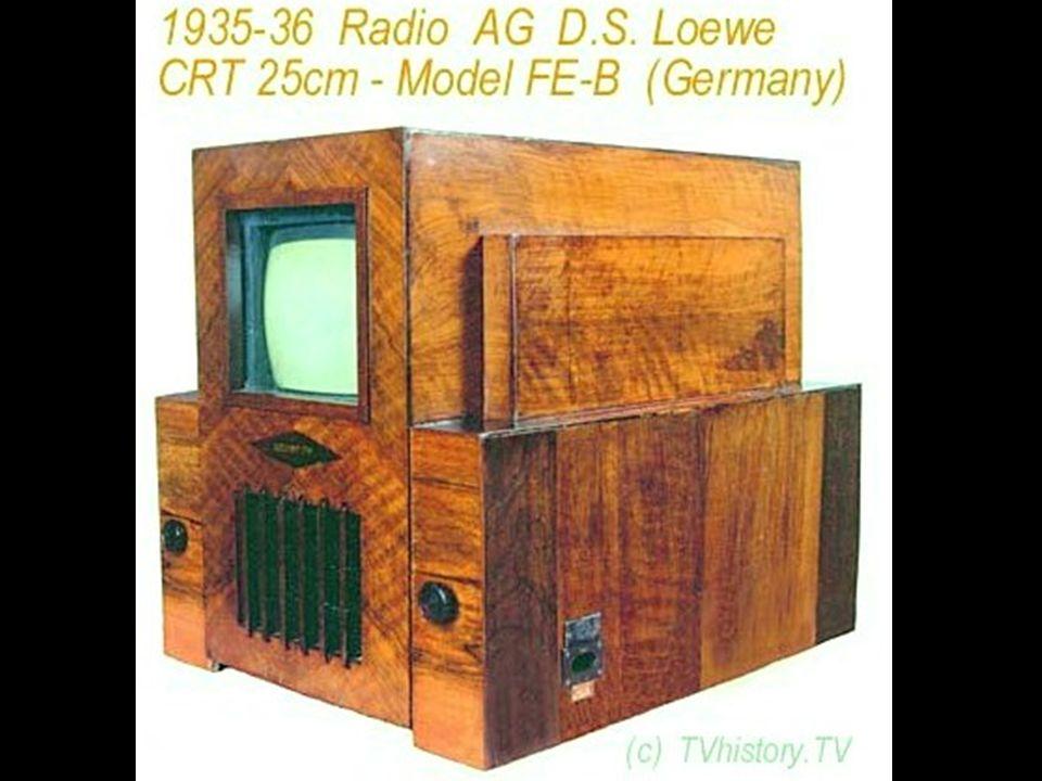 Die ersten Fernsehgeräte (Versuchsempfänger), ca. 1935/36