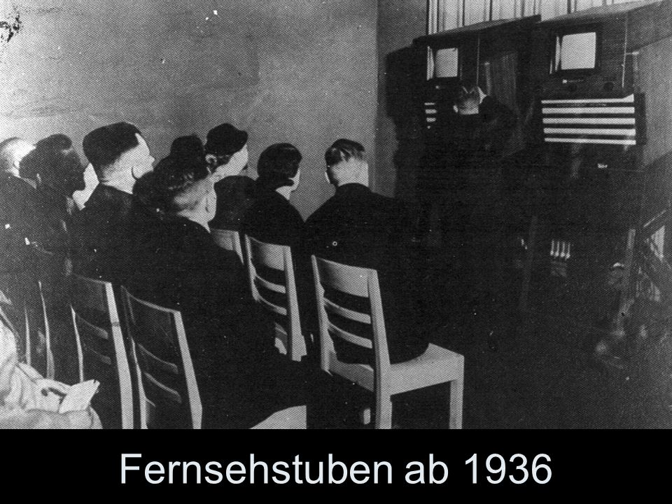 …doch dafür gab es in den Städten, insbesondere in Berlin, Fernsehstuben. Mit kostenloser Eintrittskarte konnte man das Wunder erleben