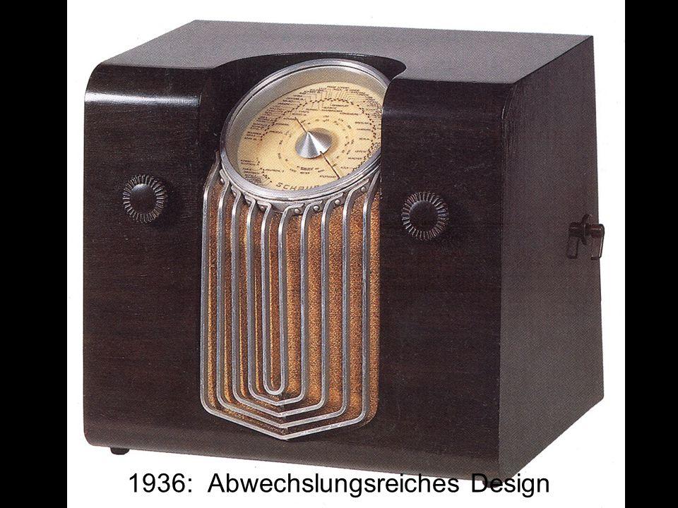 1936: Abwechslungsreiches Design