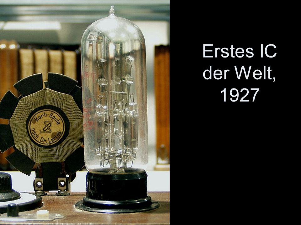 Erstes IC der Welt, 1927 -