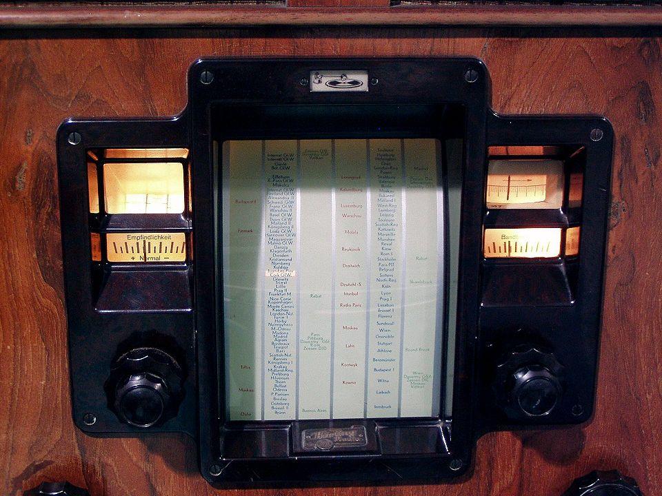 Ausschnitt des Super-Rundfunkgerätes von 1935: Körting ULTRAMAR