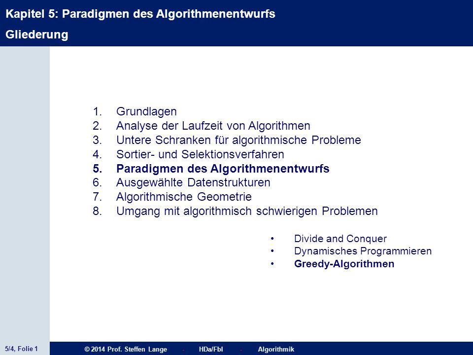 Analyse der Laufzeit von Algorithmen