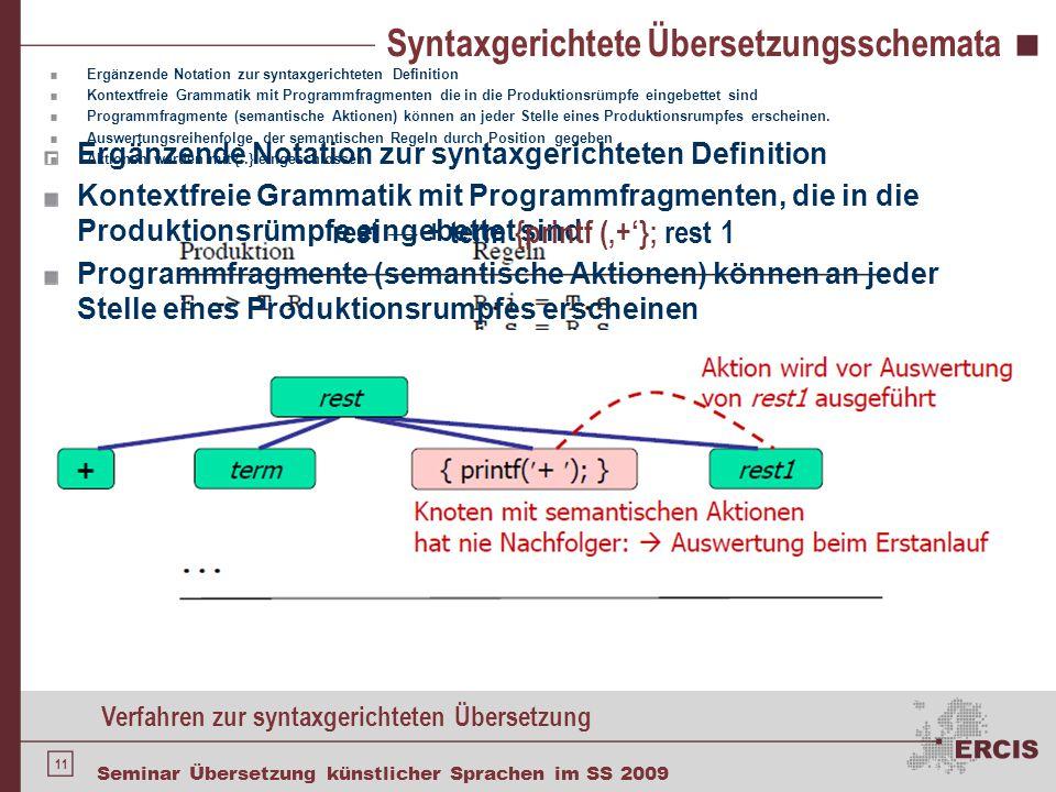 Syntaxgerichtete Übersetzungsschemata