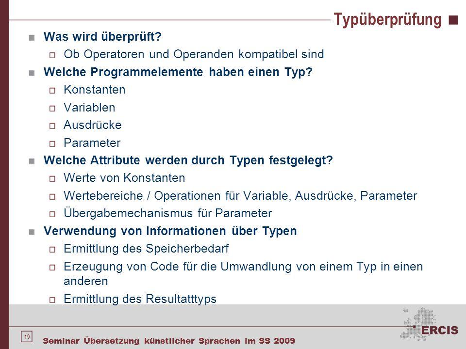 Typüberprüfung - Beispiele