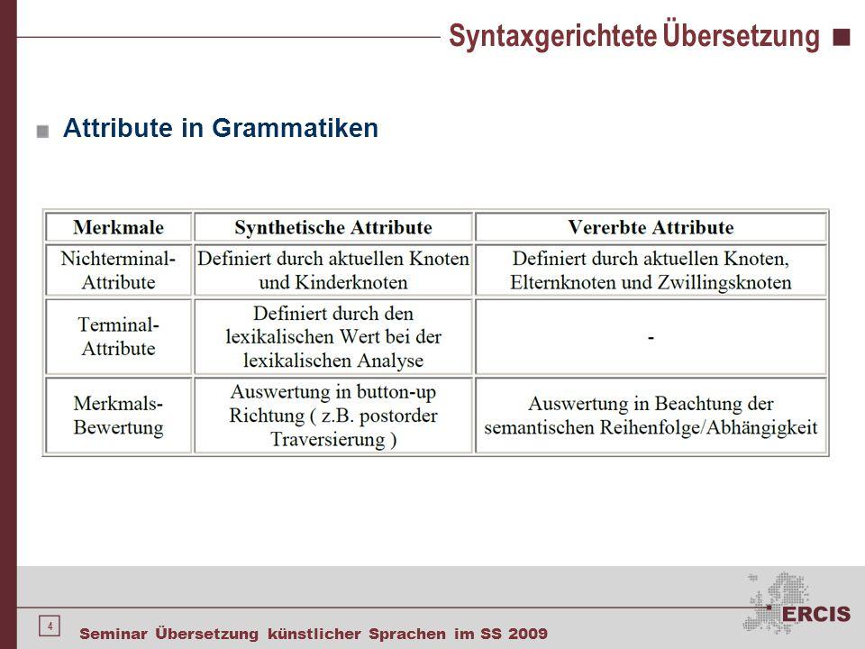 Syntaxgerichtete Übersetzung