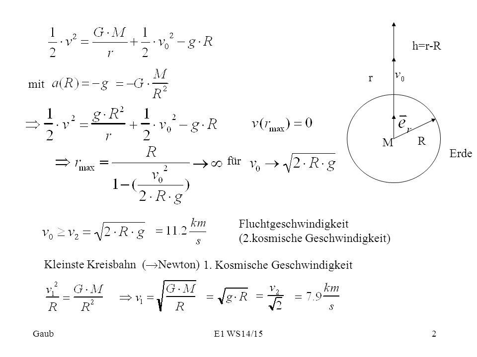 Fluchtgeschwindigkeit Erde Berechnen : ortsabh ngige kr fte bsp rakete im gravitationsfeld g nicht const ppt herunterladen ~ Themetempest.com Abrechnung