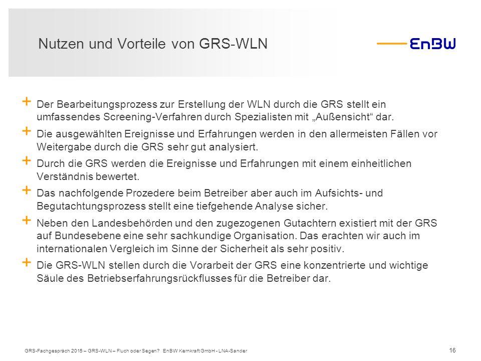 Nutzen und Vorteile von GRS-WLN