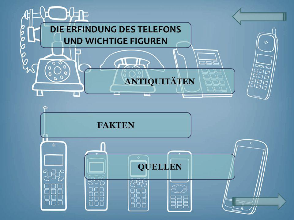 DIE ERFINDUNG DES TELEFONS UND WICHTIGE FIGUREN