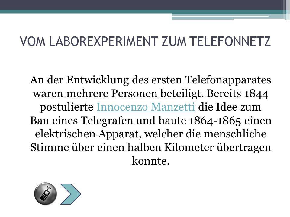VOM LABOREXPERIMENT ZUM TELEFONNETZ