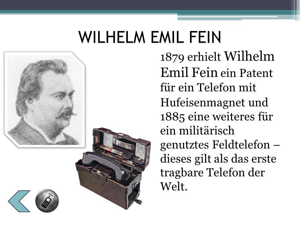 WILHELM EMIL FEIN