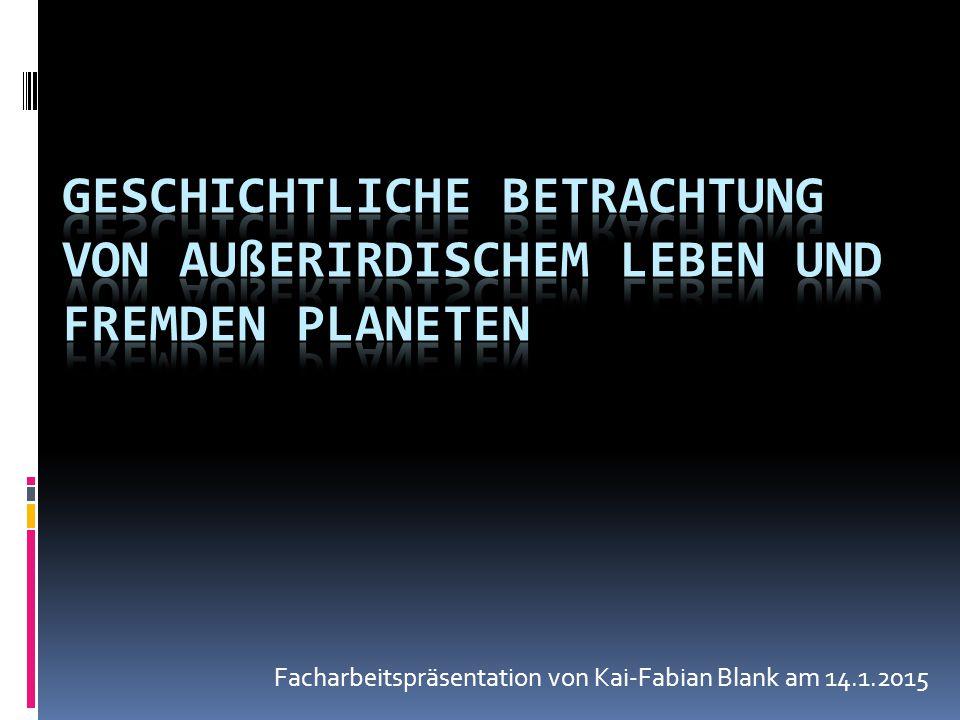 Facharbeitspräsentation von Kai-Fabian Blank am 14.1.2015