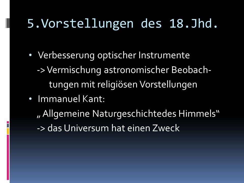 5.Vorstellungen des 18.Jhd. Verbesserung optischer Instrumente
