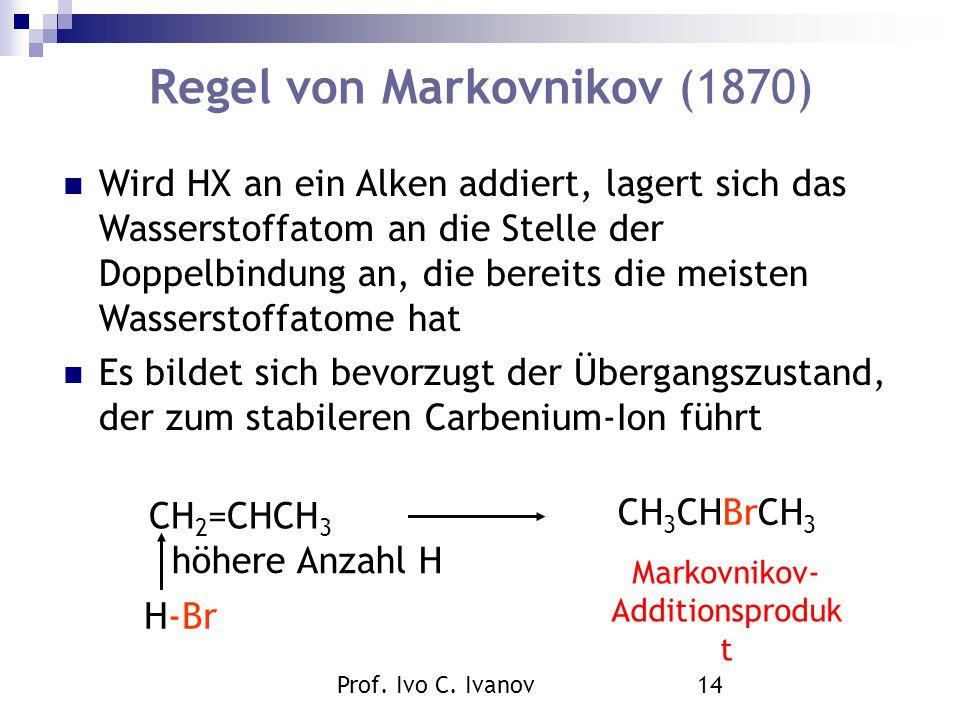 Regel von Markovnikov (1870)
