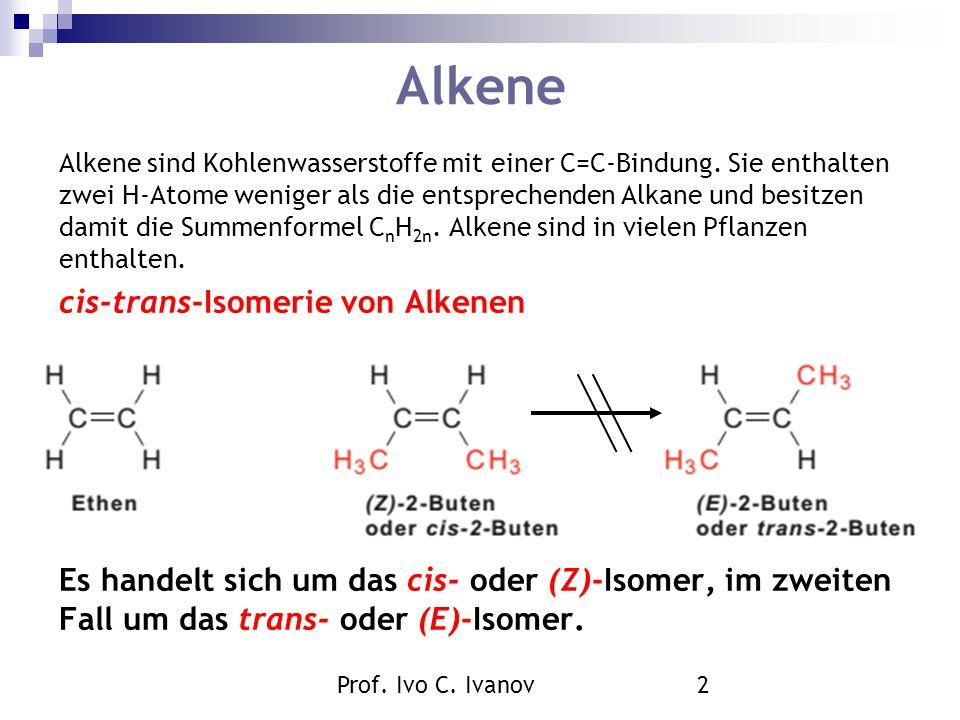 Alkene cis-trans-Isomerie von Alkenen