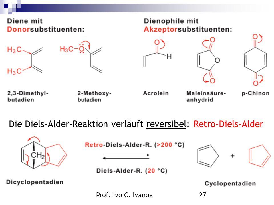 Die Diels-Alder-Reaktion verläuft reversibel: Retro-Diels-Alder