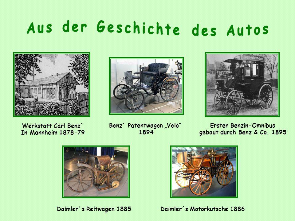 Aus der Geschichte des Autos