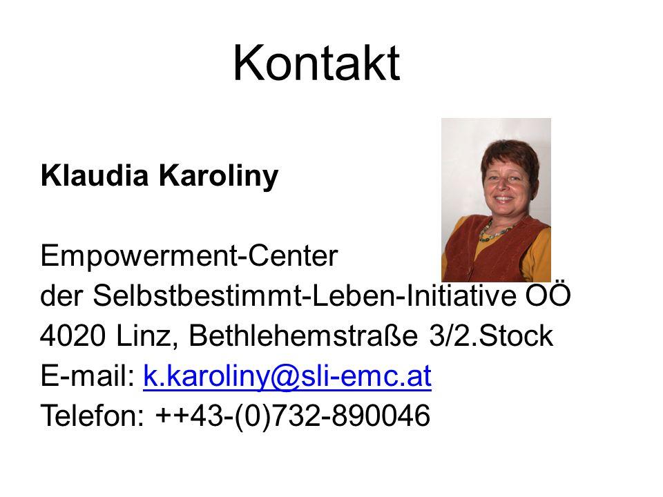 Kontakt Klaudia Karoliny Empowerment-Center