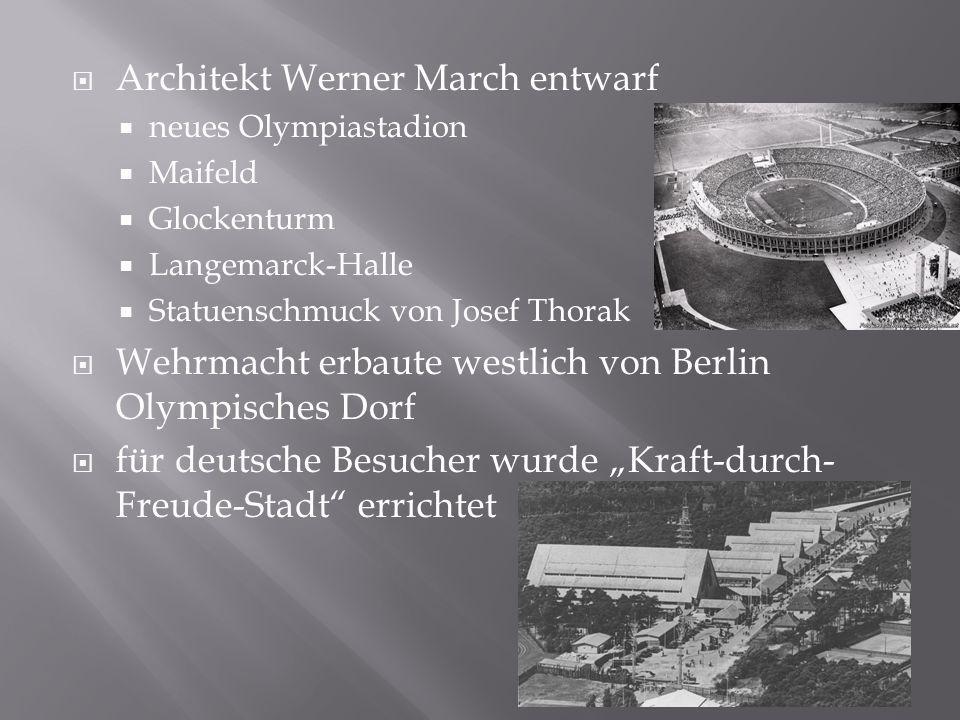 Architekt Werner March entwarf