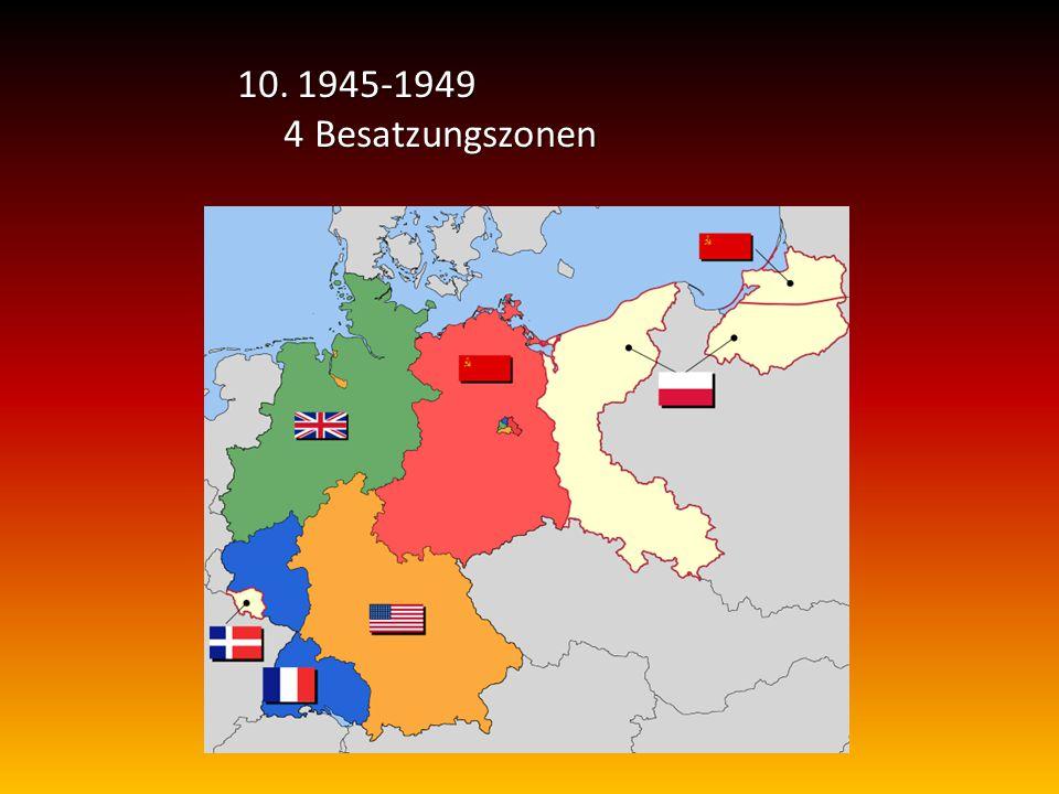 1945-1949 4 Besatzungszonen