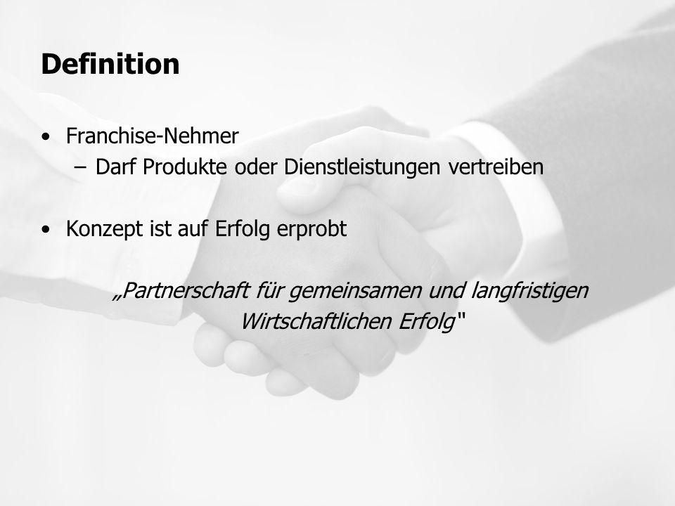 Definition Franchise-Nehmer