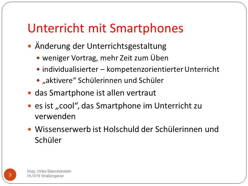 Unterricht mit Smartphones