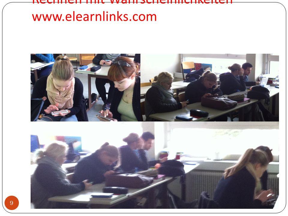 Rechnen mit Wahrscheinlichkeiten www.elearnlinks.com