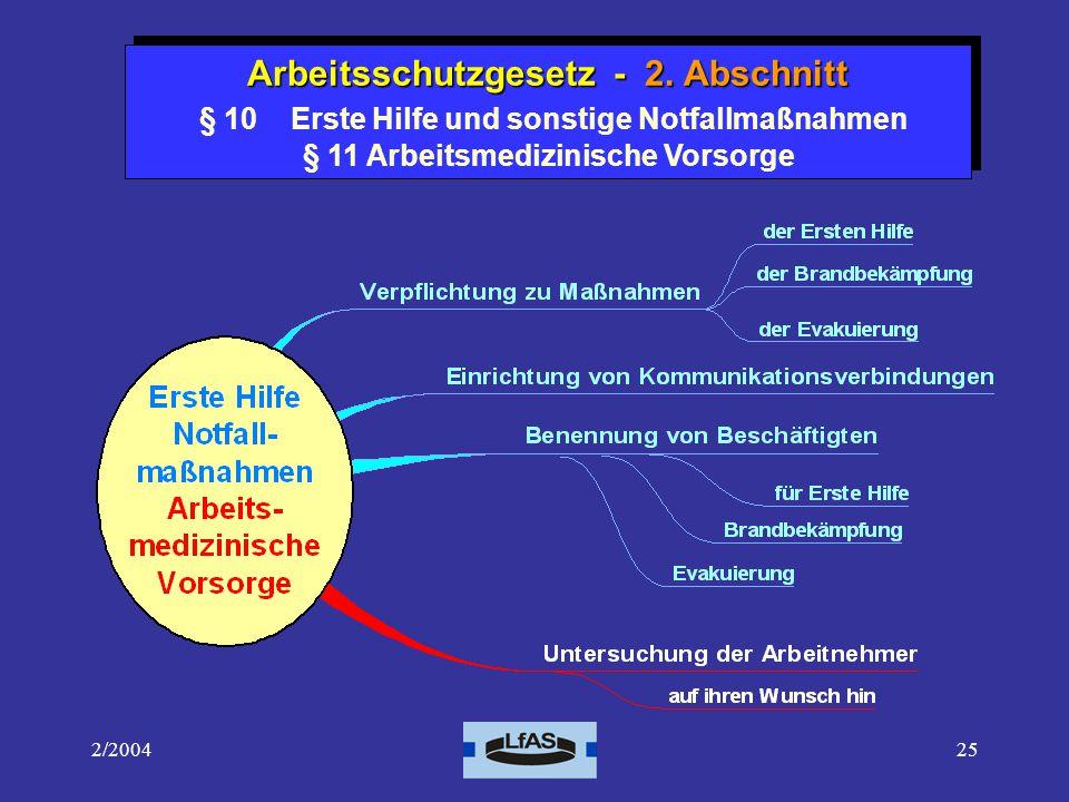 Arbeitsschutzgesetz - 2