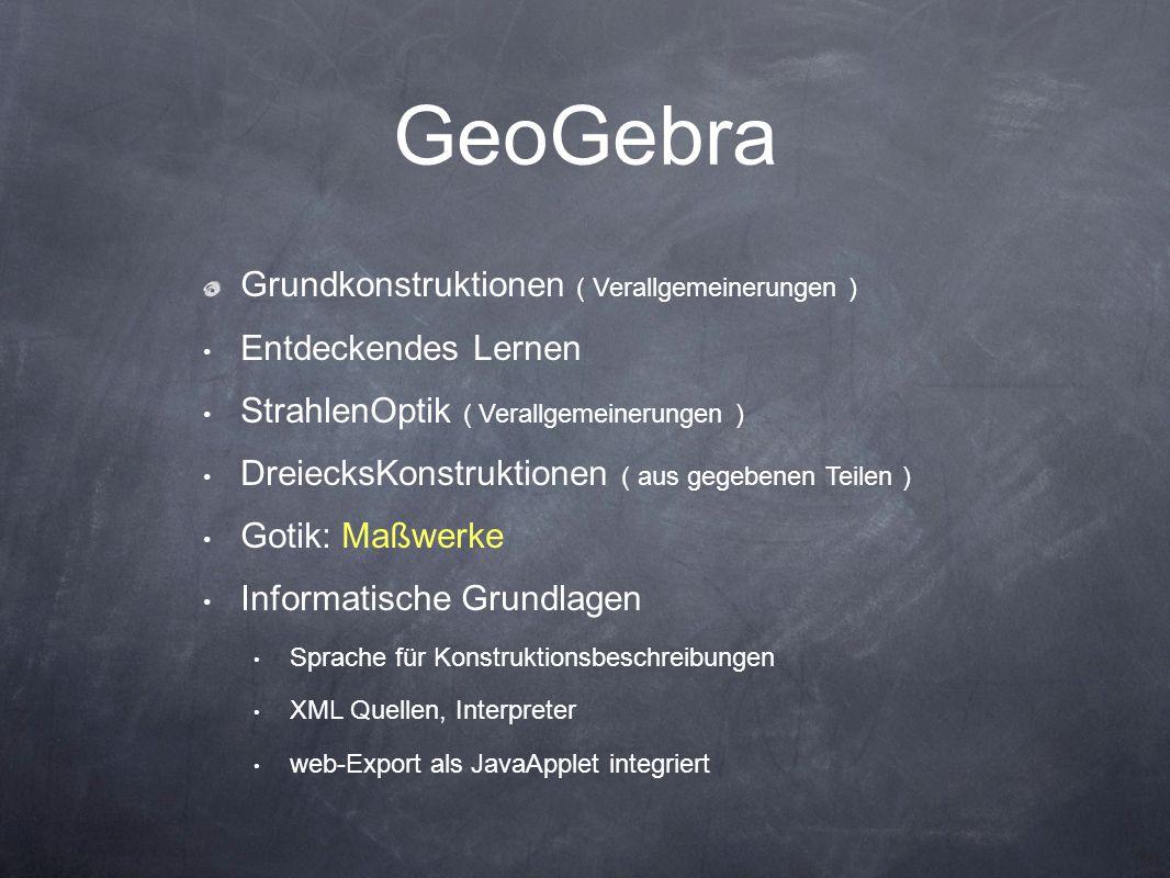 GeoGebra Grundkonstruktionen ( Verallgemeinerungen )