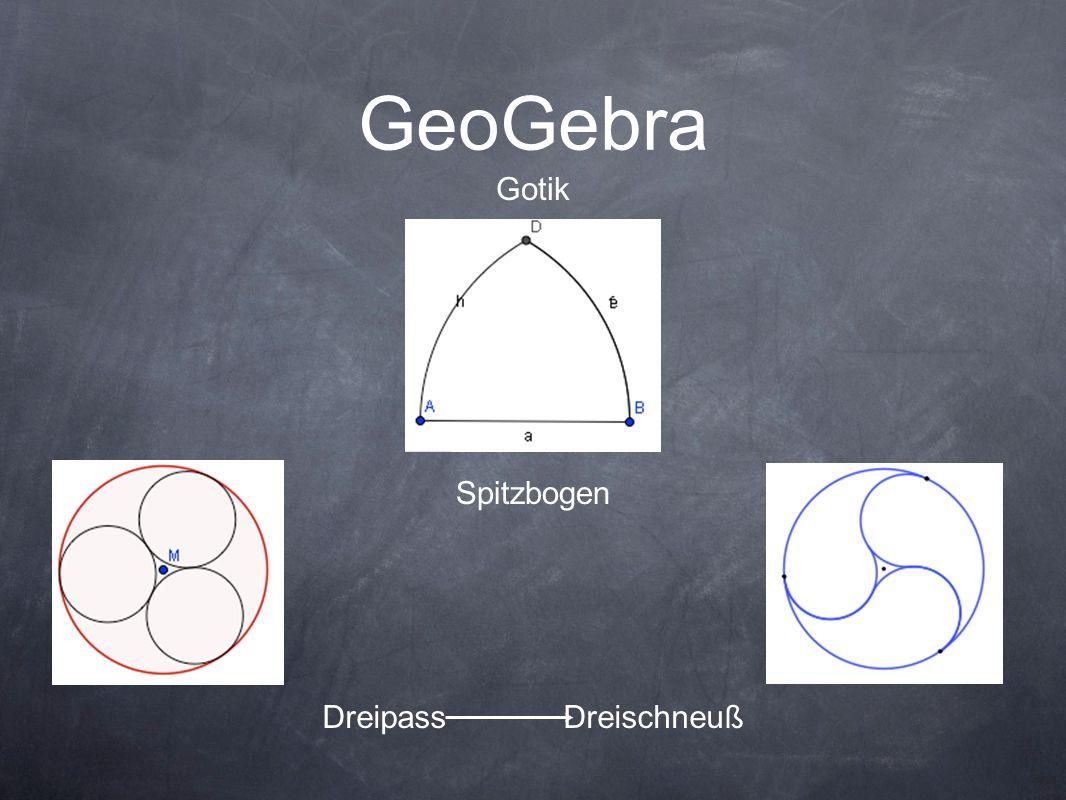 GeoGebra Gotik Spitzbogen Dreipass Dreischneuß