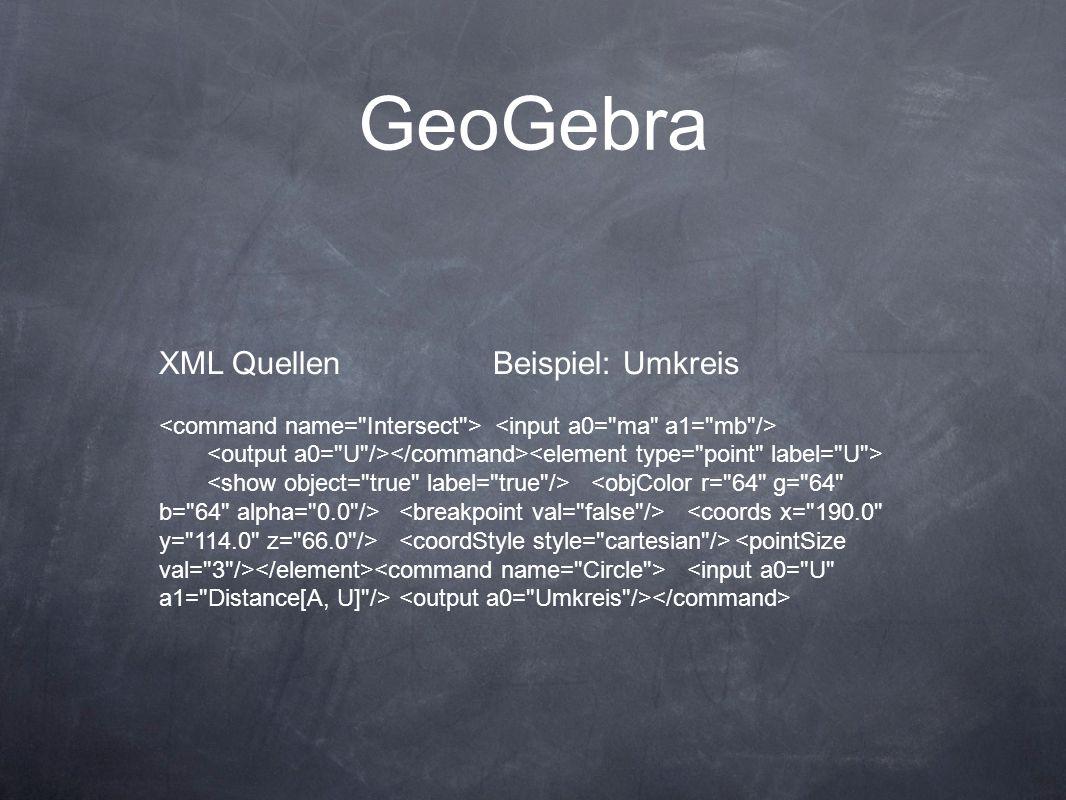 GeoGebra XML Quellen Beispiel: Umkreis
