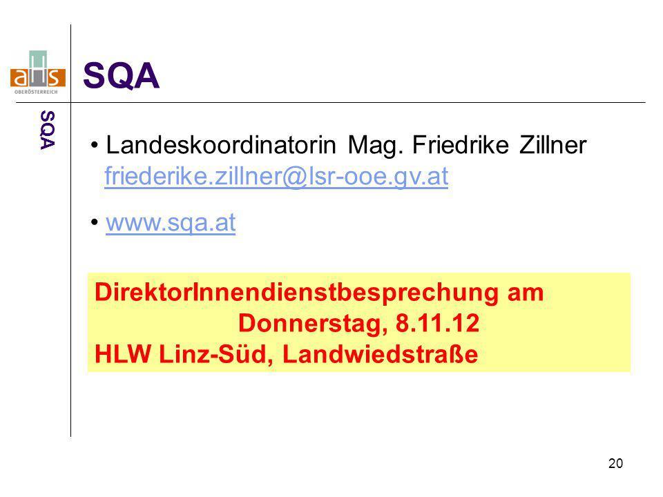 SQA SQA. Landeskoordinatorin Mag. Friedrike Zillner friederike.zillner@lsr-ooe.gv.at. www.sqa.at.