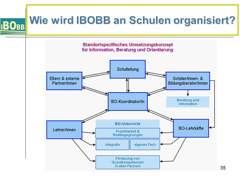 Wie wird IBOBB an Schulen organisiert