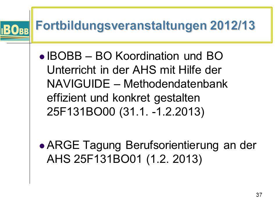 Fortbildungsveranstaltungen 2012/13