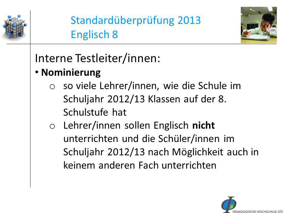 Standardüberprüfung 2013 Englisch 8