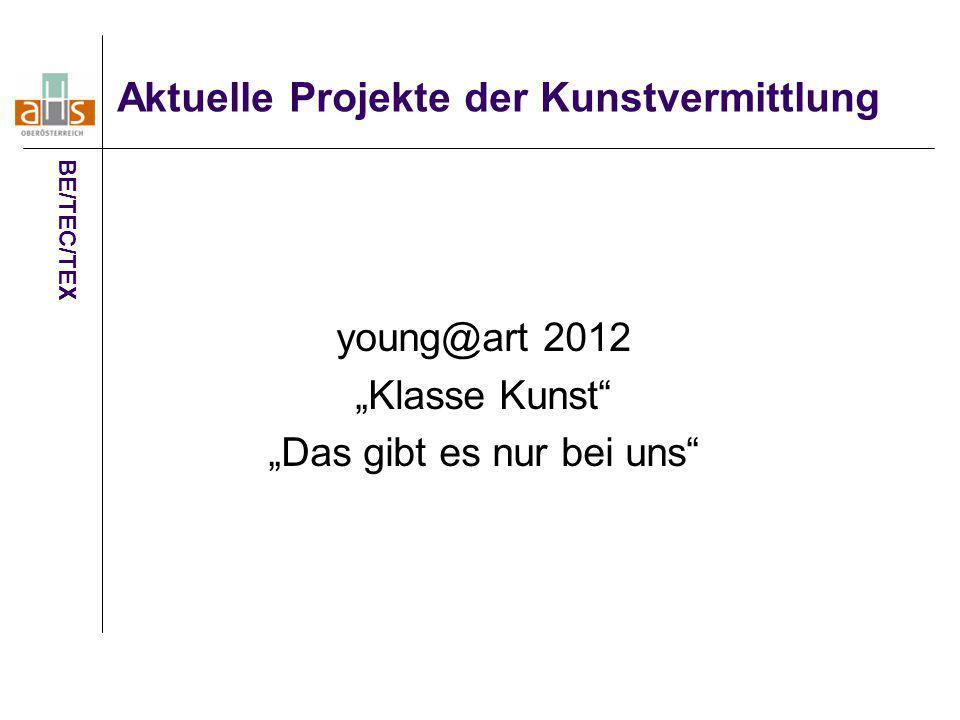 Aktuelle Projekte der Kunstvermittlung
