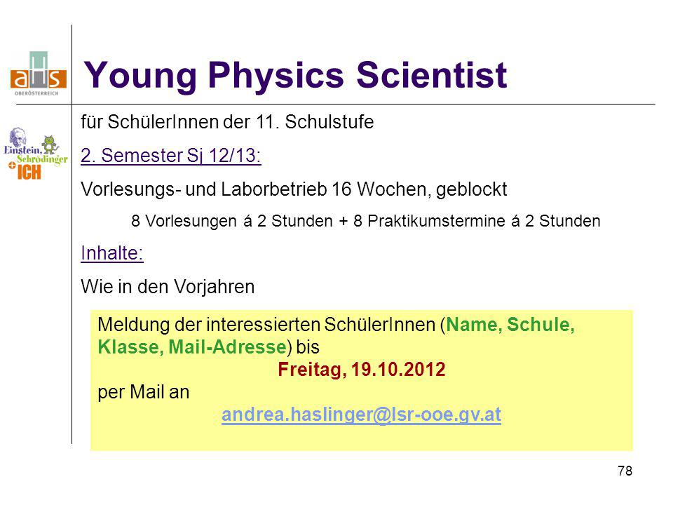 Young Physics Scientist