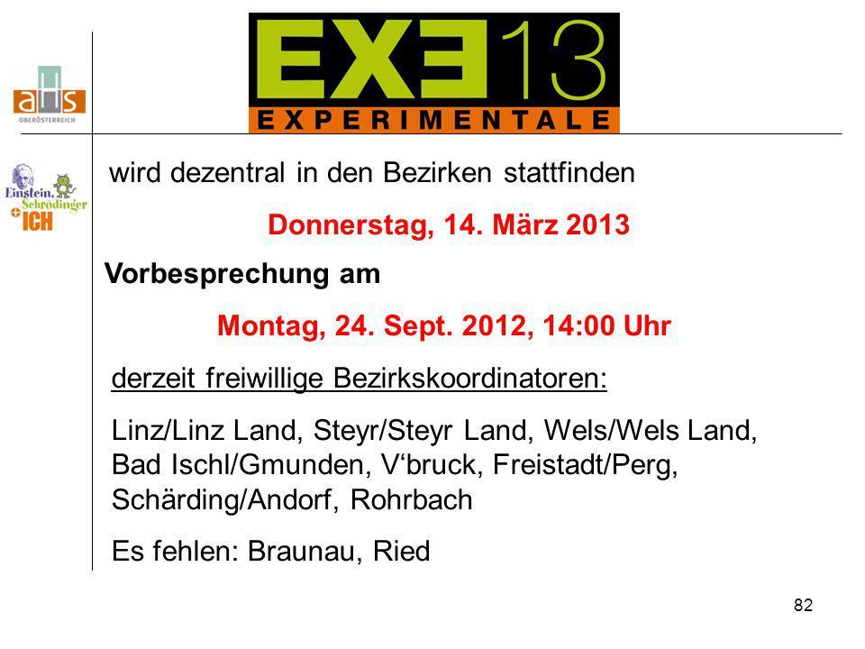 Donnerstag, 14. März 2013 Montag, 24. Sept. 2012, 14:00 Uhr