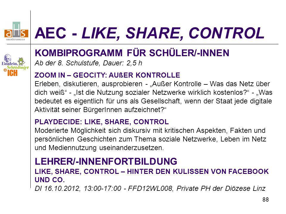 AEC - LIKE, SHARE, CONTROL