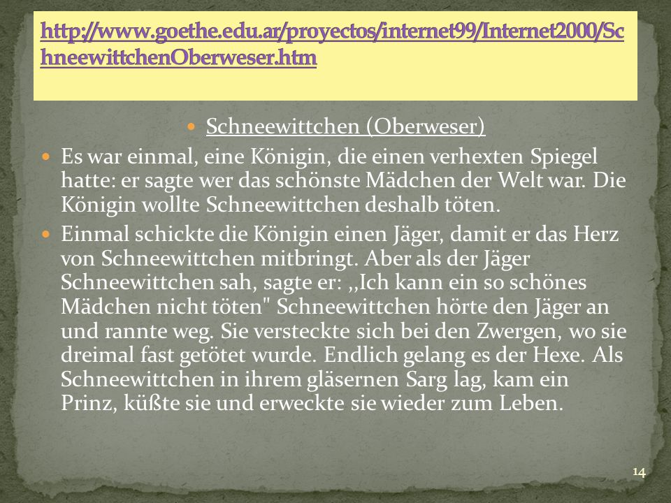 Schneewittchen (Oberweser)