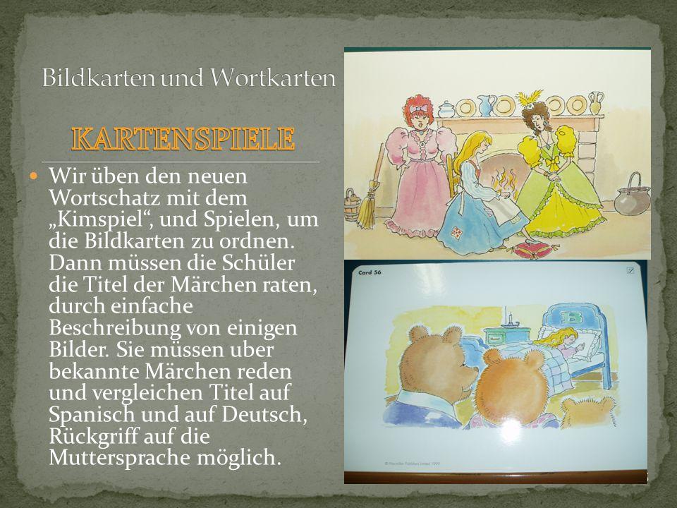 Bildkarten und Wortkarten