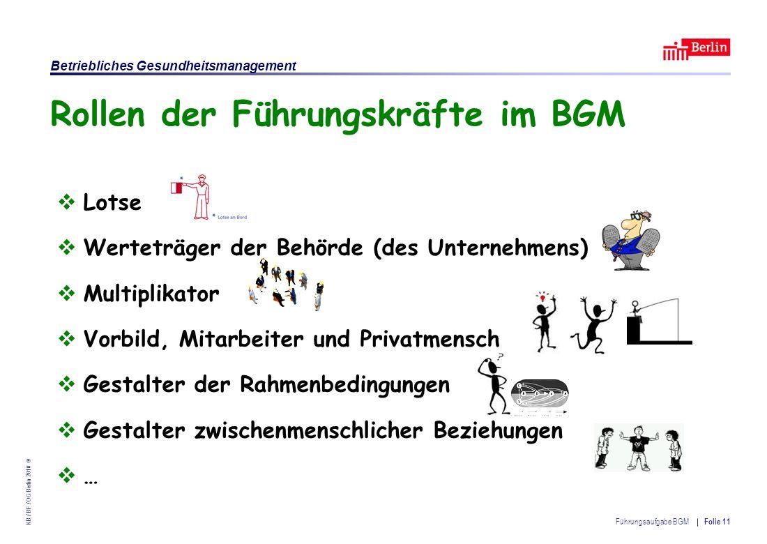 Rollen der Führungskräfte im BGM