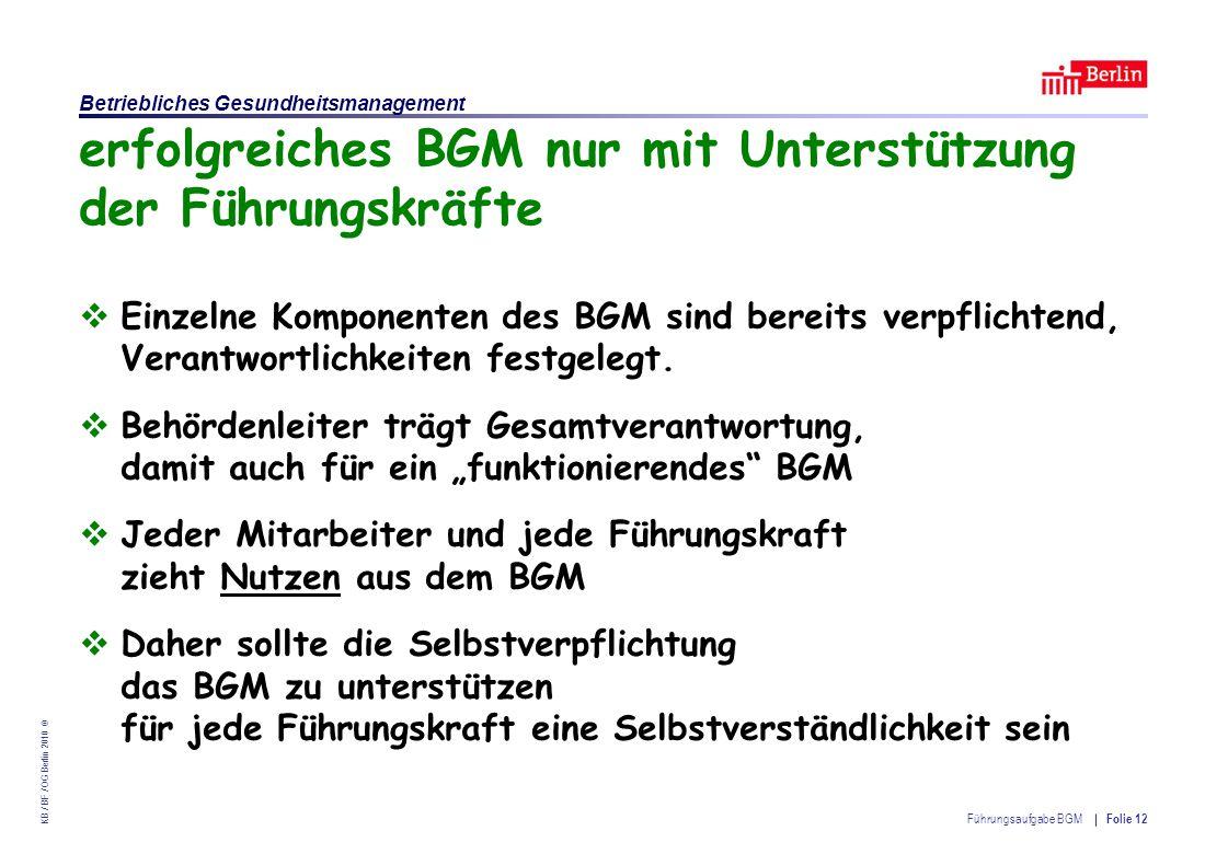 erfolgreiches BGM nur mit Unterstützung der Führungskräfte