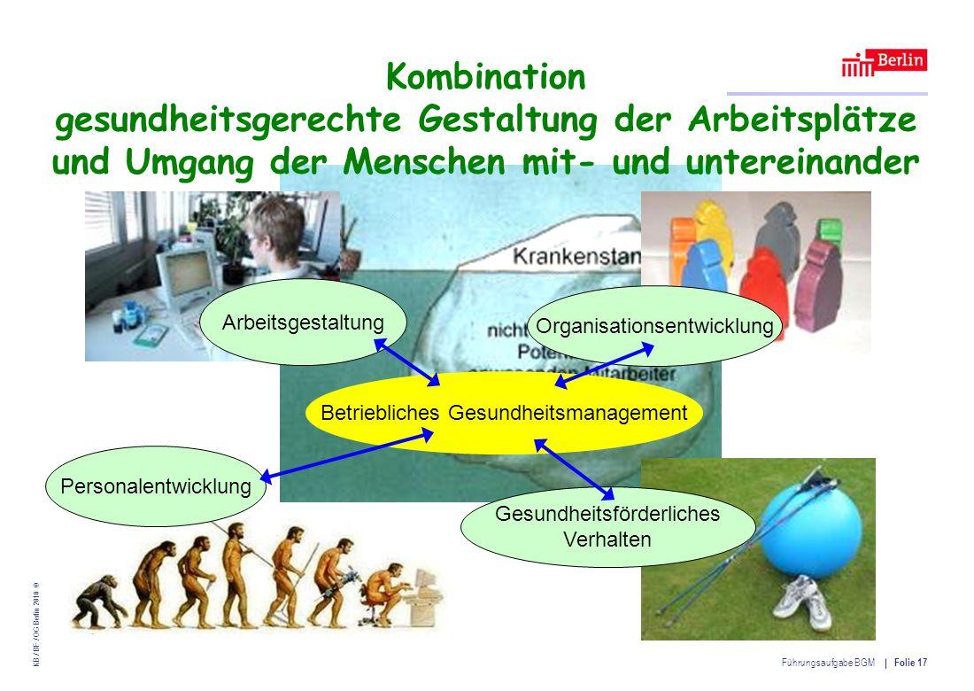 Kombination gesundheitsgerechte Gestaltung der Arbeitsplätze und Umgang der Menschen mit- und untereinander