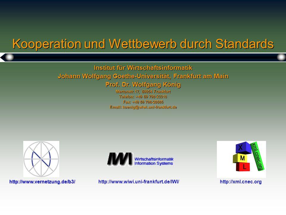 Kooperation und Wettbewerb durch Standards