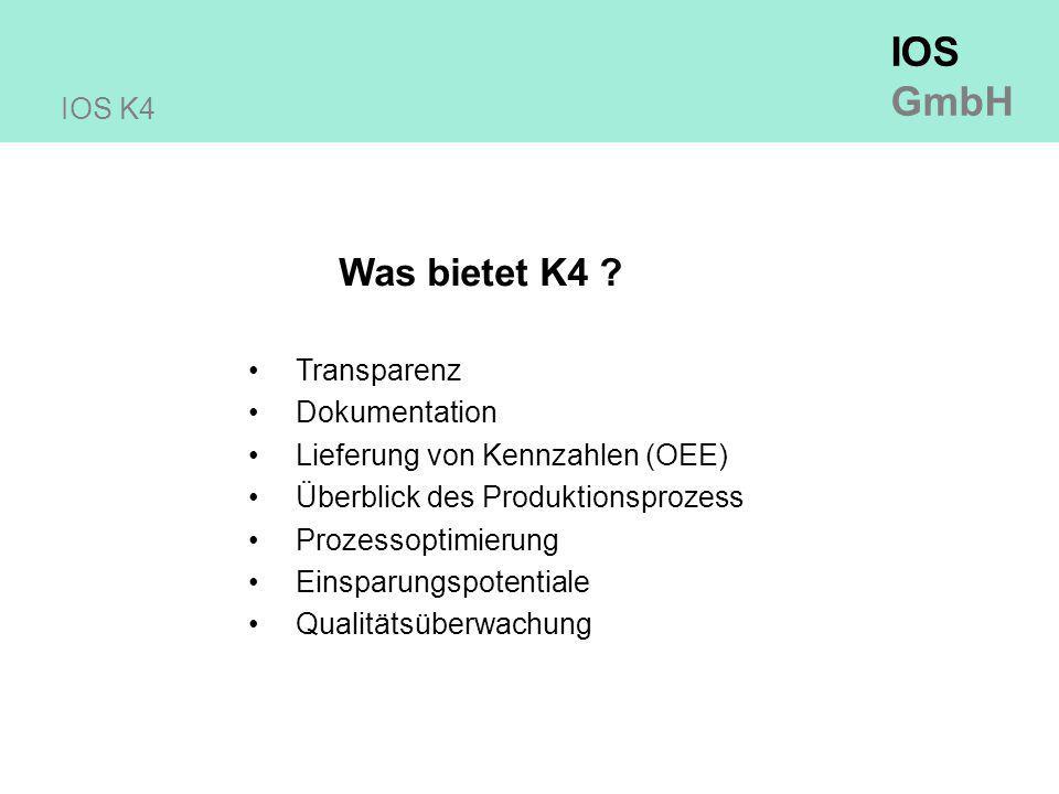Was bietet K4 IOS K4 Transparenz Dokumentation