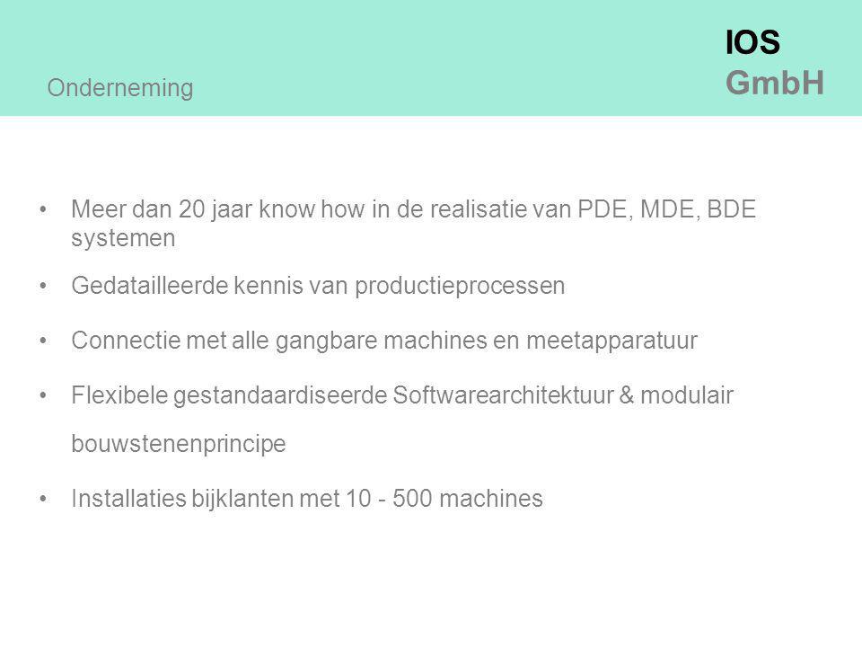 Onderneming Meer dan 20 jaar know how in de realisatie van PDE, MDE, BDE systemen. Gedatailleerde kennis van productieprocessen.