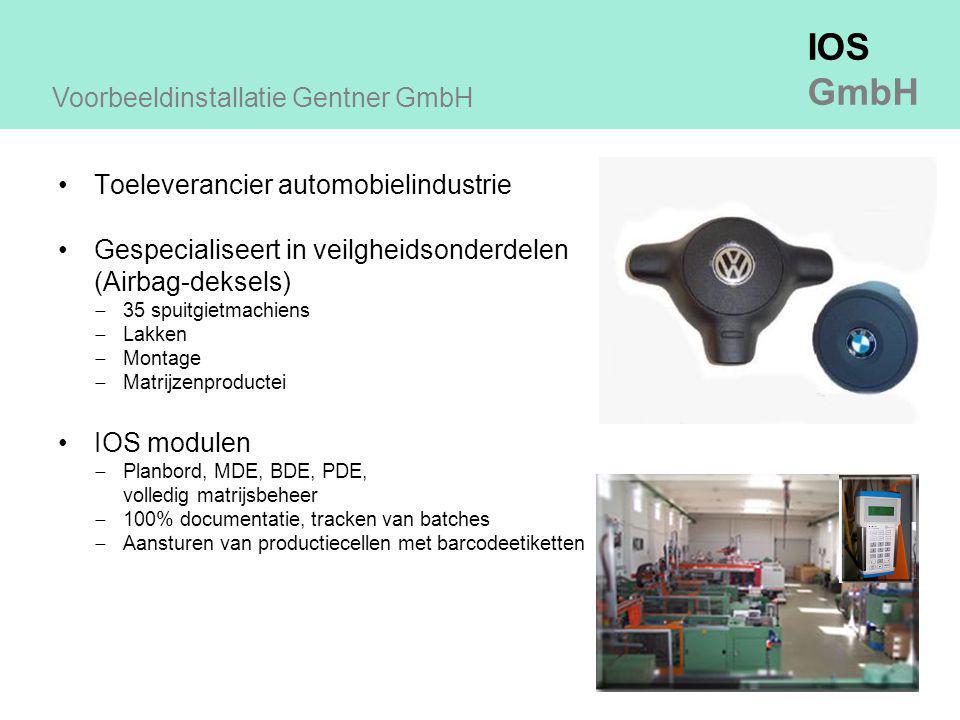 Voorbeeldinstallatie Gentner GmbH