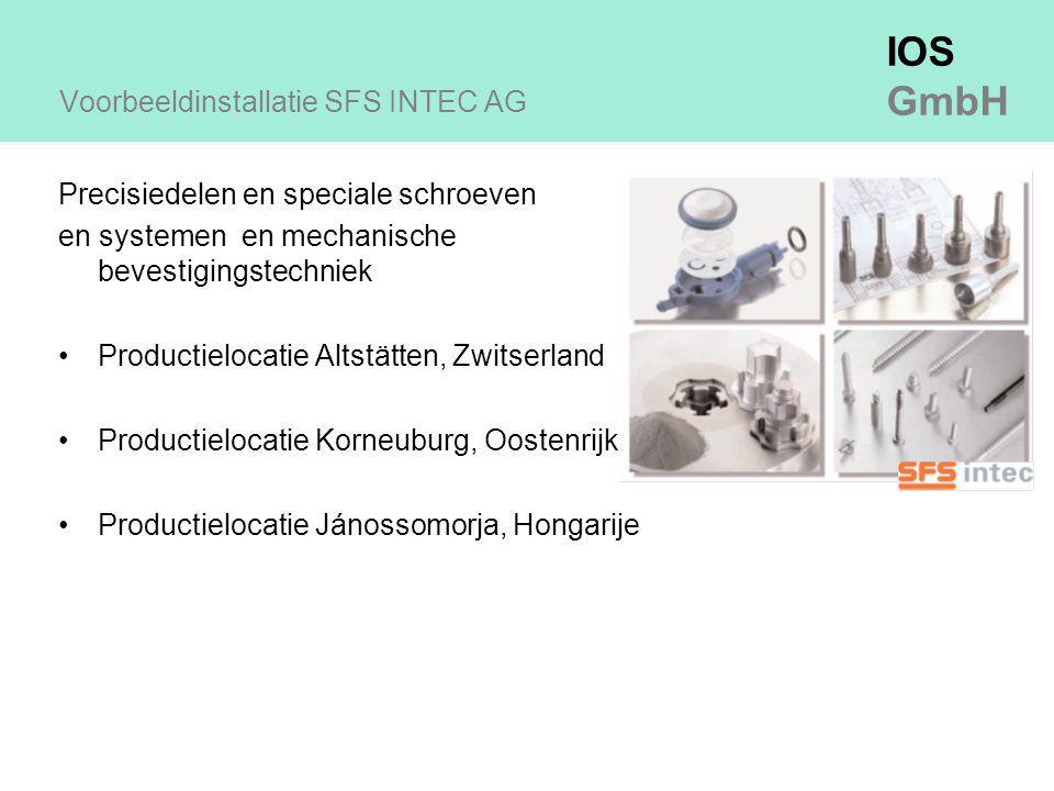 Voorbeeldinstallatie SFS INTEC AG
